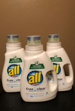 3 all detergent for Sale in Hamburg, NY