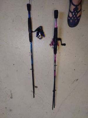 Set of his and hers Fishing poles and reels for Sale in Fort Myers, FL