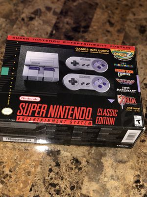 SNES Classic Edition NEW IN BOX - Super Nintendo mini console RARE for Sale in Dearborn, MI