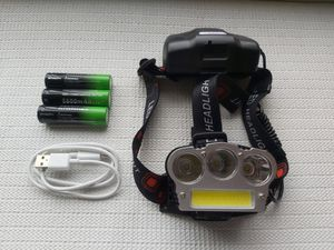 Headlamp 3X T6 COB Headlight Torch Rechargeable Flashlight for Sale in San Diego, CA