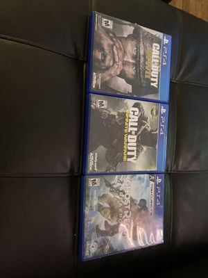 3 PS4 games for Sale in New Cumberland, PA