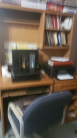 Free computer desk and TV entertainment. Not tv nor computer for Sale in Elma, WA