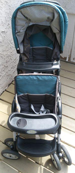 Graco DuoGlider Double Stroller, Glacier for Sale in Ontario, CA