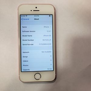 Unlocked Verizon Iphone SE 16GB - Clean IMEI, Mint Condition for Sale in Altoona, PA