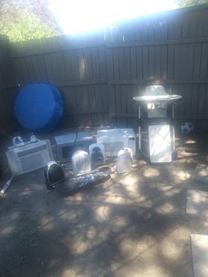 Microwave, air conditioner baby seat, iron steam, skate board for Sale in West Valley City, UT