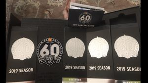 4 raider tickets for next game plus parking pass for Sale in Stockton, CA