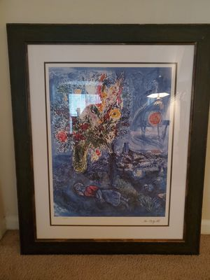 Chagall print with authenticity papers for Sale in Charlottesville, VA