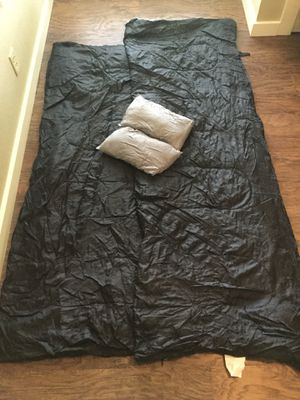 Double Sleeping Bag with 2 Camping Pillows and Stuff Sack for Sale in Austin, TX