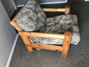 Reclining Log Chair / Mini Futon and Side Table for Sale in Portland, OR