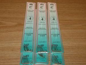 6 PKS - SIZE 4 SNELLED BRONZE BAITHOLDER HOOKS - 36 FISH HOOKS - DOLPHIN BRAND for Sale in Snohomish, WA