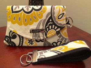 Handmade Agape Wristlet card holder with matching key fob. for Sale in Pittsburgh, PA