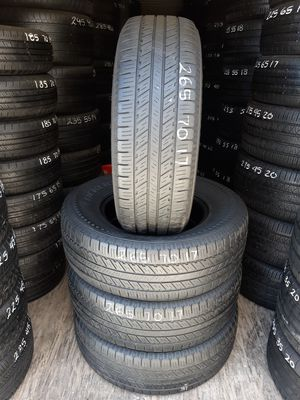 4 USED TIRES 265 70 17 BLACKLION  80% TREAD $180 ALL 4 INSTALLED AND BALANCED for Sale in San Diego, CA