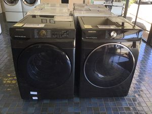 Samsung Front Load Washer and Electric Dryer in Black Stainless Steel for Sale in Fresno, CA