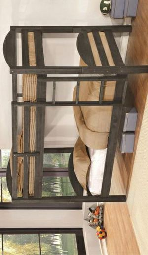 $39 DOWN /Lily Gray Twin over Twin Bunk Bed SAME DAY DELIVERY for Sale in Houston, TX