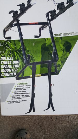 New Allen Deluxe 3-Bike Carrier Spare Tire Mount Rack for Sale in Duluth, GA
