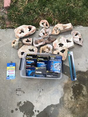 Fly all Filter supplies and Fish Tank Rocks for Sale in Los Angeles, CA