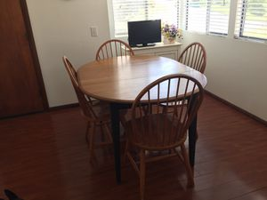 Wood kitchen table with chairs for Sale in San Marcos, CA