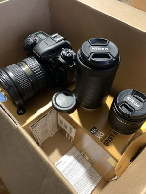 Nikon D7500 includes 3 lenses w/bag and basic accessories for Sale in Riverside, CA