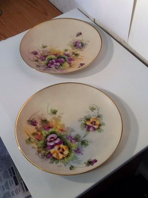 Vintage 1920s Hand Painted Wesley China Plates for Sale for sale  Sweetwater, TN