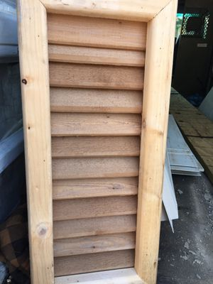 Brand New beautiful Cedar wood,Vent.. for Sale in Irving, TX
