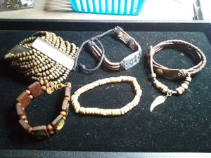 Leather and wood bracelets/cuff for Sale in Northumberland, PA