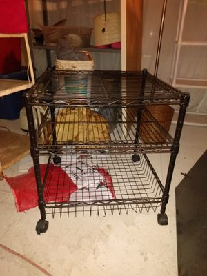 Rolling cart shelf container etc metal for Sale in Greensboro, NC