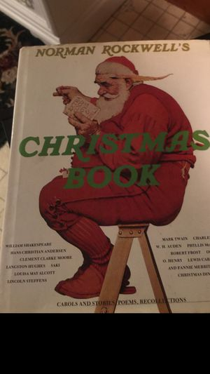 Norman Rockwell Christmas Book rare find great condition gorgeous pictures recipes poems music a real treasure!! No missing pages no smell original for Sale in Northfield, OH
