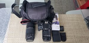 Canon rebel SL1 with two lenses for Sale in Rockville, MD