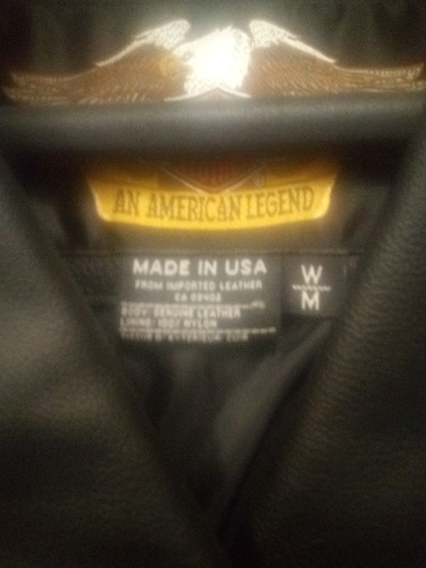 Harley Davidson women's leather biker jacket