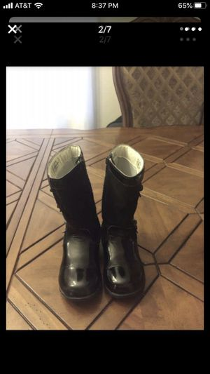 PEDIPED GIRLS FLEX Nancy Black Leather Zipper Boots for Sale in Damascus, OR
