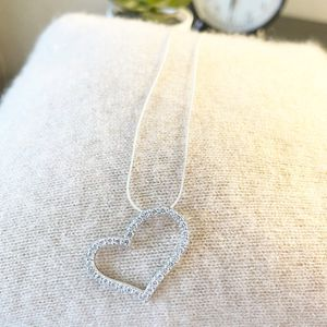 Silver925 Elegant Heart Pendant & Necklace for Sale in Los Angeles, CA
