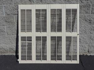 """Window shutters 44"""" wide by 43 1/2"""" tall. Fold 4 times. for Sale in Phoenix, AZ"""