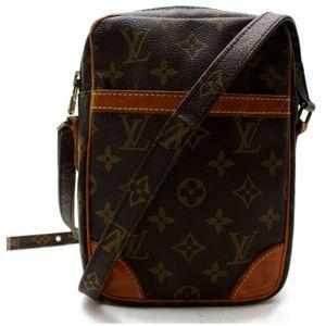 Authentic Louis Vuitton Danube M45266 Brown Monogram Shoulder Bag 11385 for Sale in Plano, TX