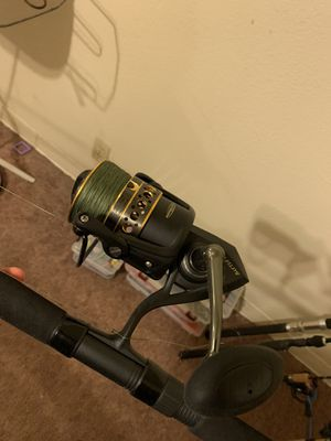 Penn battle 2 fishing combo. Brand new 55lb braid for Sale in Fairfield, CA