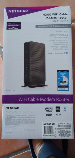Netgear WiFi Modem and Router for Sale in Vero Beach, FL