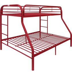 Twin Over Full Bunk Bed Set Red Metal for Sale in Garden Grove,  CA