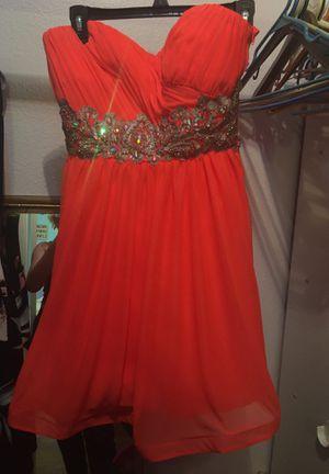 Hot pink/bright orange homecoming dress for Sale in San Antonio, TX