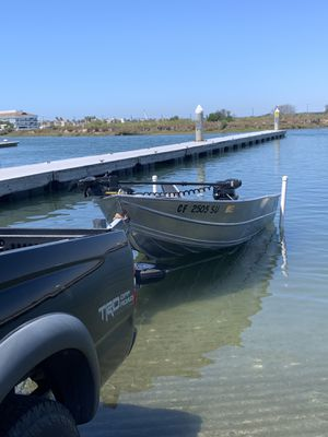 12 ft western aluminum boat+ pacific trailer+ merc 15 hp 4 stroke + minnkota Powerdrive trolling motor for Sale in Cypress, CA