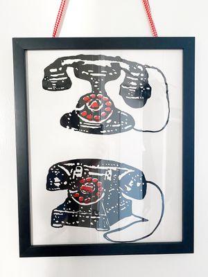 West Elm Retro Phone Print Framed Art for Sale in San Diego, CA