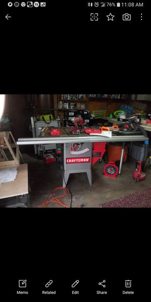 Craftsman professional table saw in like new condition $575 for Sale in San Antonio, TX