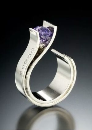 New size 9 sterling silver ring with purple amethyst stone for Sale in Sarasota, FL