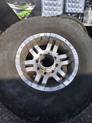 Moto metal wheels and tires. 35X12 for Sale in St. Petersburg, FL
