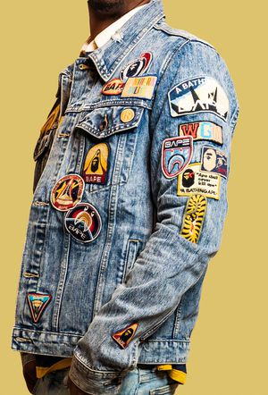 Bape jean jacket with patches for Sale in Nashville, TN