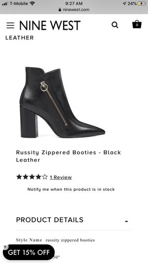 Nine West Booties. Size 10 for Sale in La Mesa, CA