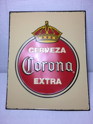 Corona beer sign corona sign corona tin sign corona extra metal sing boxing sign corona led sign corona neon sign corona extra beer sign Raiders Stee for Sale in La Habra, CA