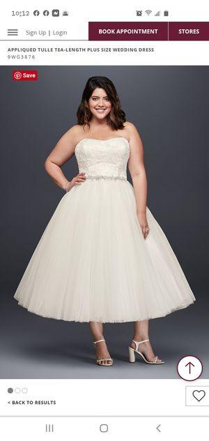 Tea length wedding dress for Sale in San Antonio, TX