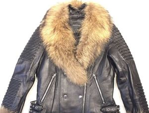 Mason and cooper leather fur jacket for Sale in Bronx, NY