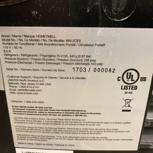 Honeywell Portable Ac Unit for Sale in Fort Lauderdale, FL