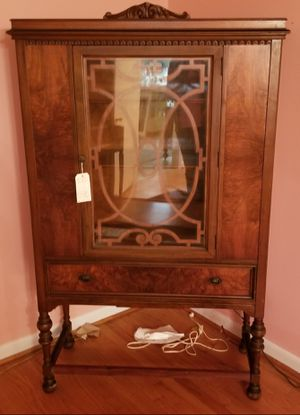 BEAUTIFUL ANTIQUE TIGER OAK DINING CHINA CABINET for Sale in Raleigh, NC