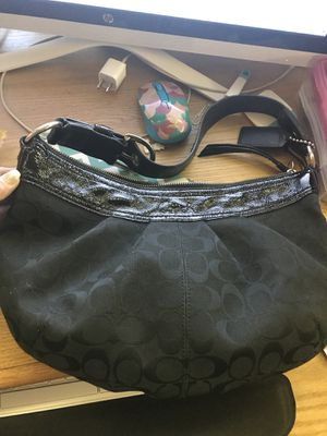 Black Coach Signature Hobo shoulder bag for Sale in Henderson, NV
